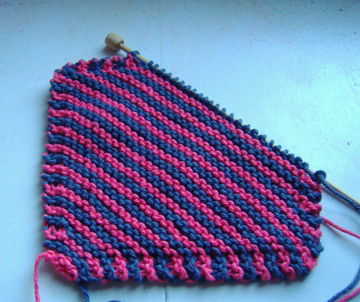 Knitting Garter Stitch Left Handed : Free Knit Dishcloth Pattern: A Knitted Kitchen Sink Necessity!