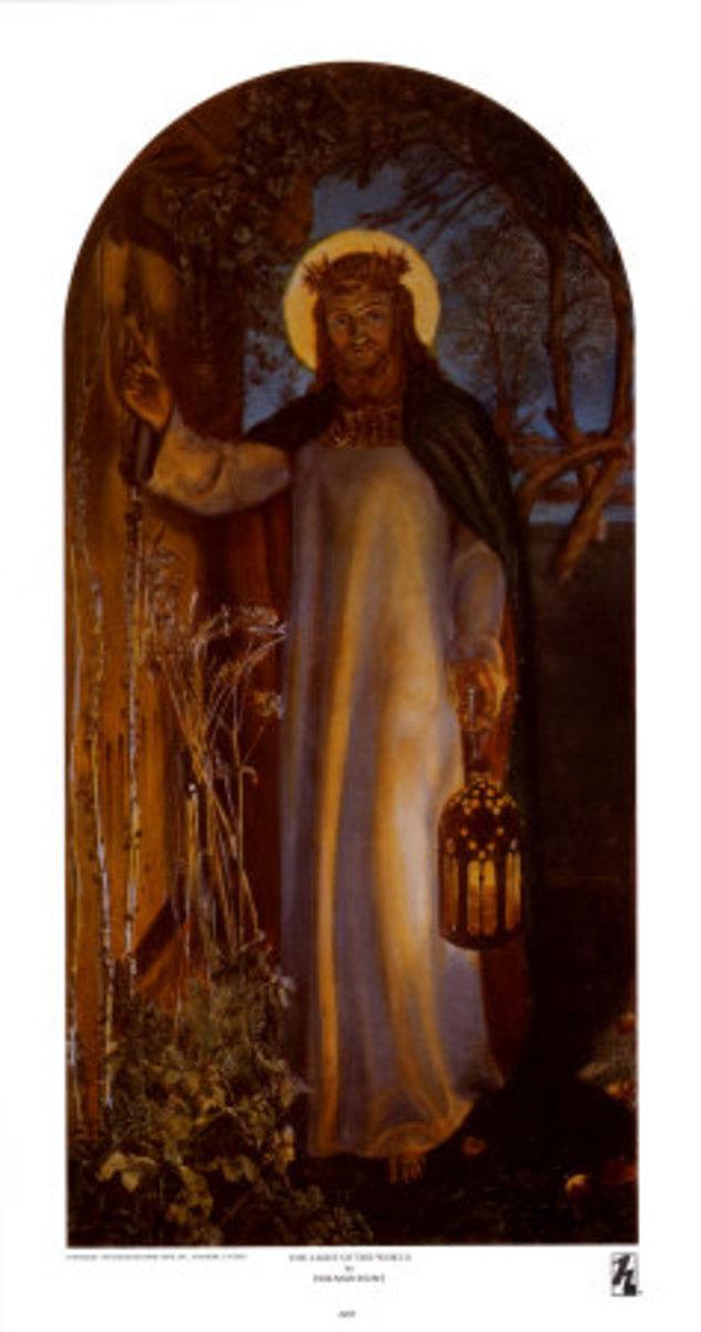 beautiful painting of Jesus Christ knocking on a door