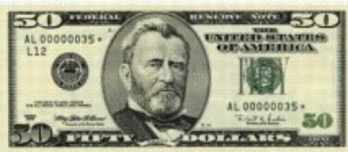 copy US $ 50.00 bill