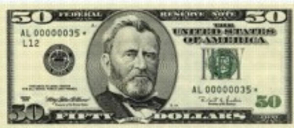 copy US $ 50.00 bill