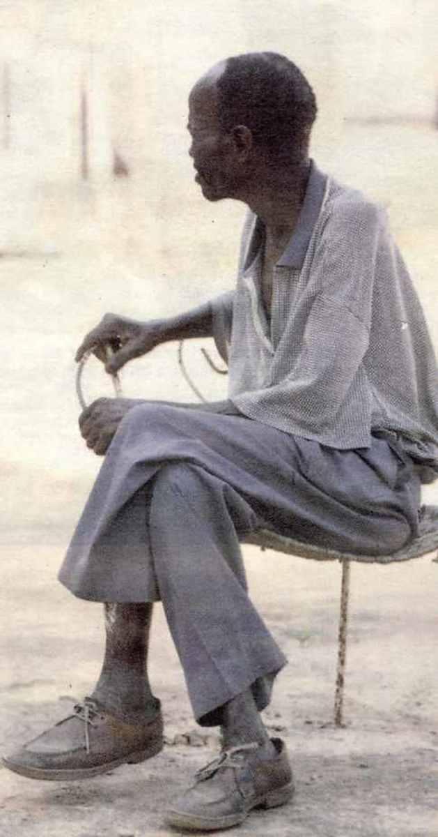 Ananias Mathe's 82-year-old father Zephanias. Photo: The Sowetan