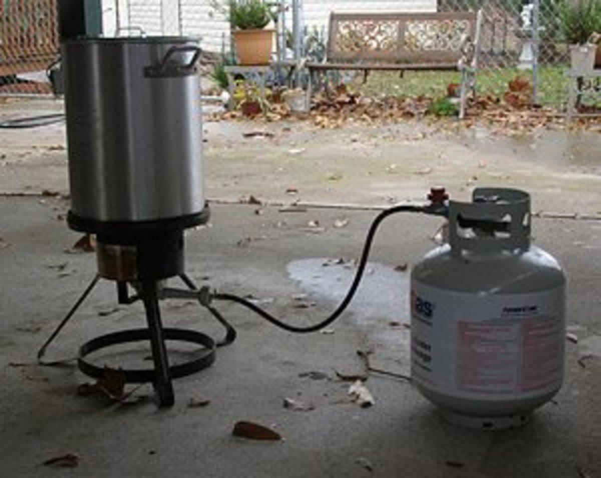 Fryer being prepared