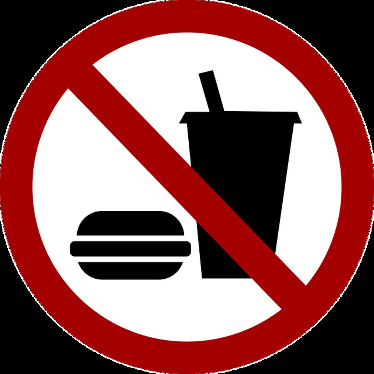 No fatty foods - eat healthy