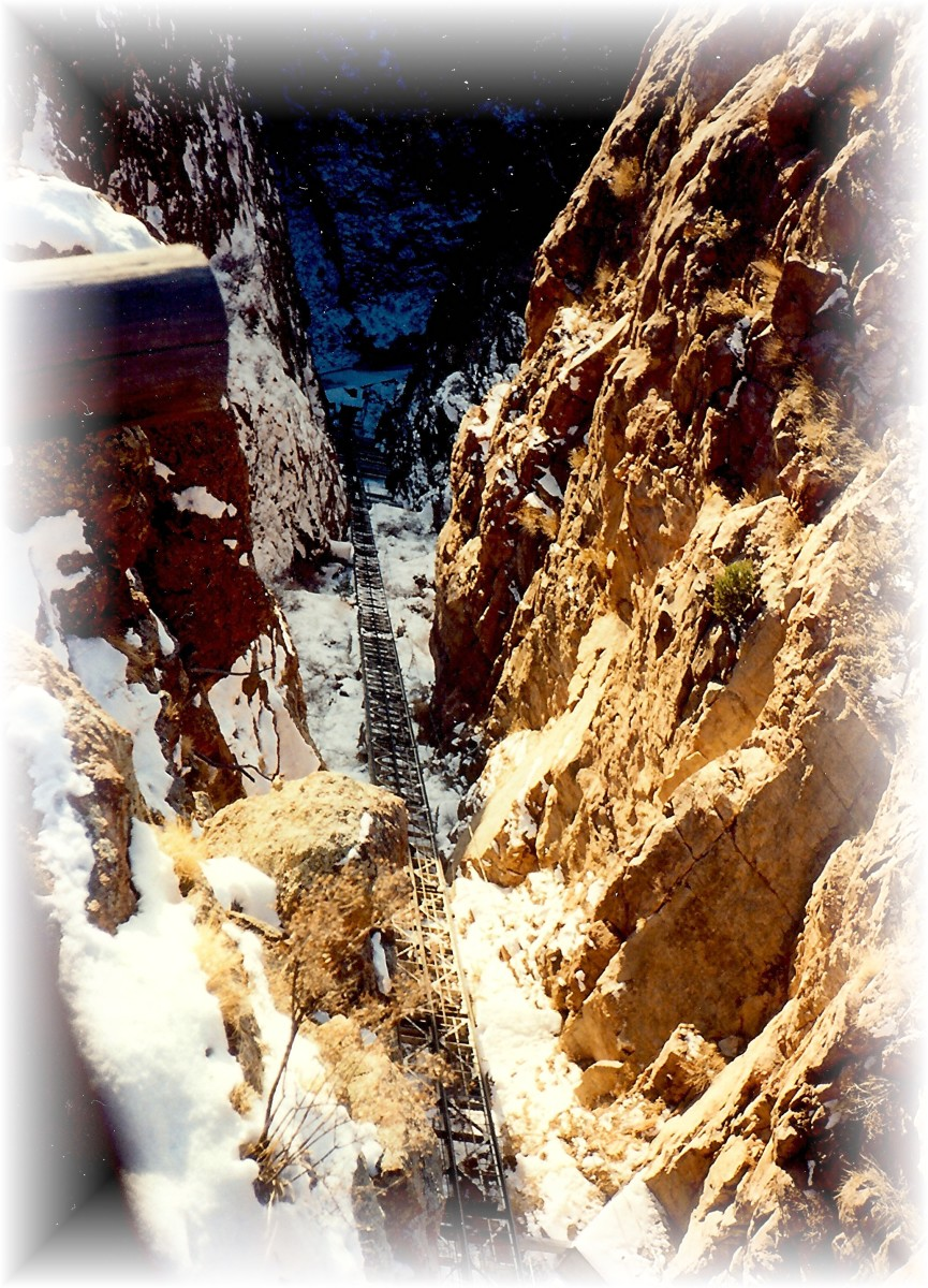 The incline railway at the Royal Gorge lets you have an up close look at the granite rocks.