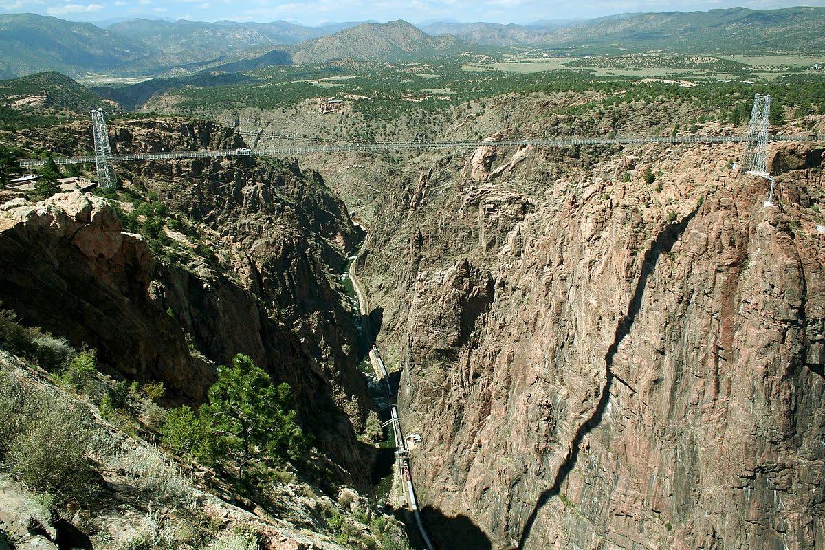 The Royal Gorge Bridge is a suspension bridge near Cañon City (Colorado, United States) over the Arkansas River