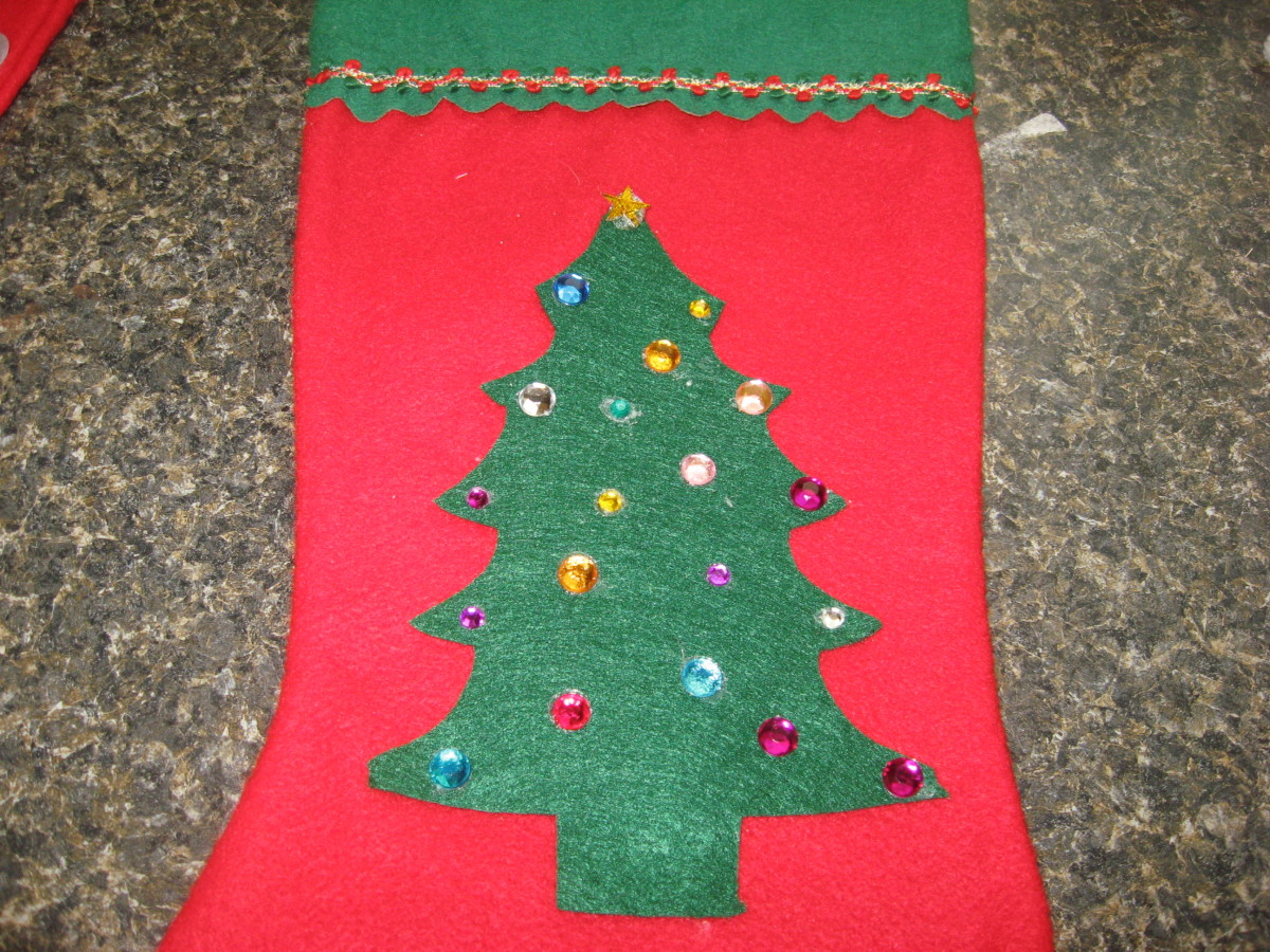 homemade felt applique