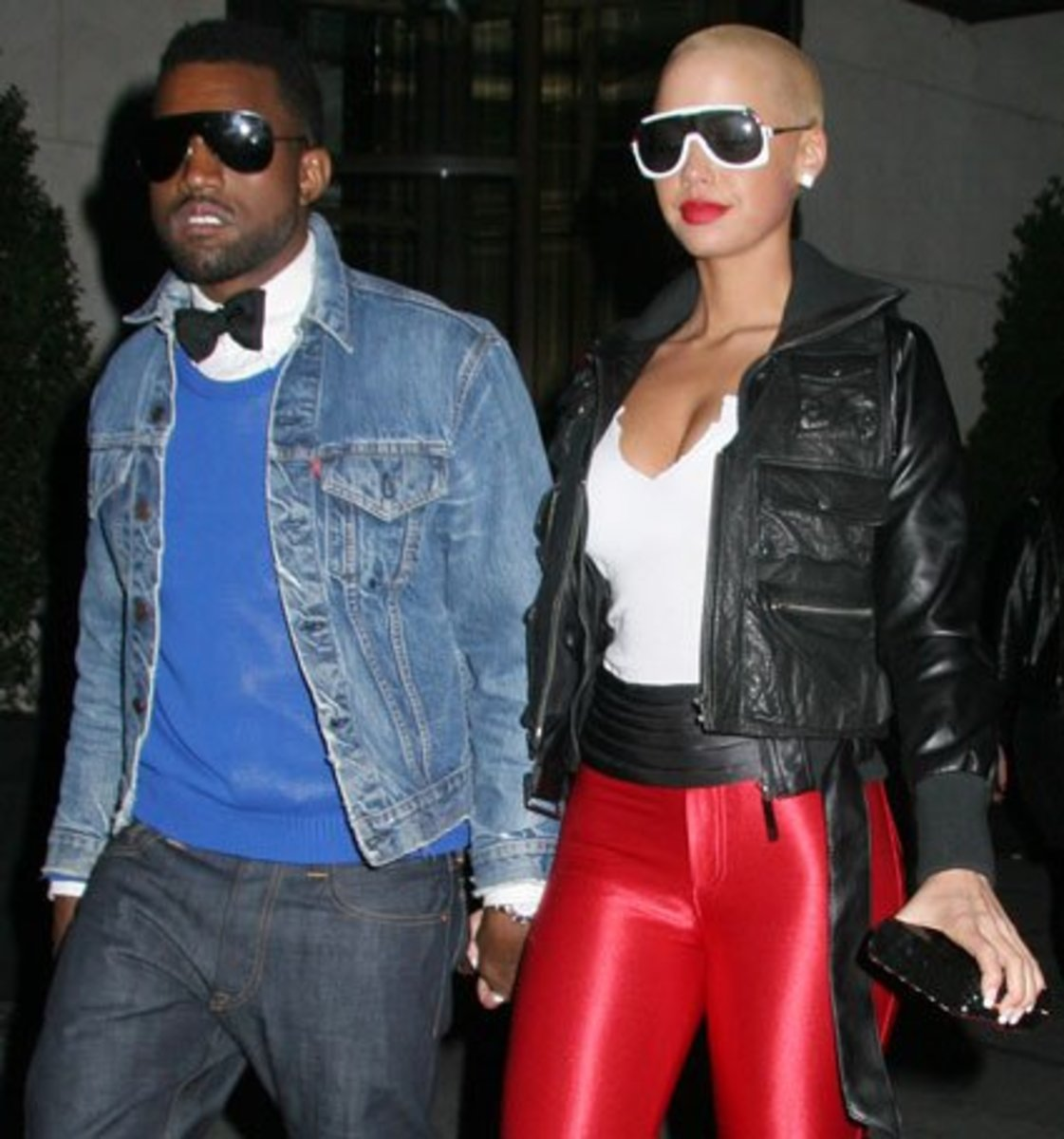 Kanye West and hig girlfriend Amber Rose