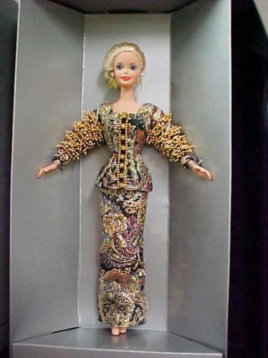 Barbie Doll from 1995 Christian Dior Evening Gown