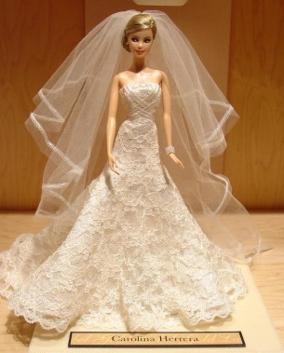 Barbie Doll in a wedding dress