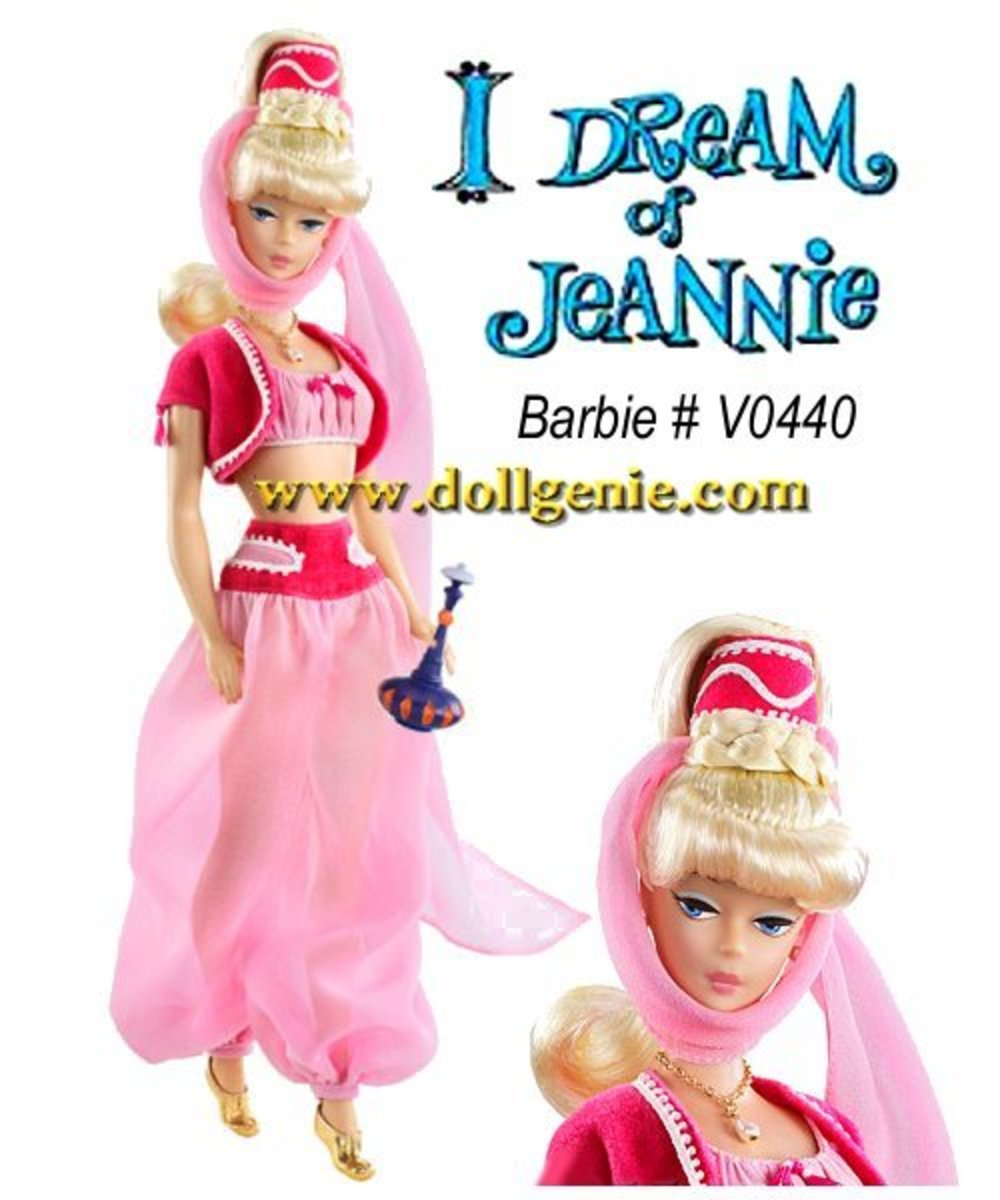 Celebrity Barbie Doll I Dream of Jeannie Barbara Eden
