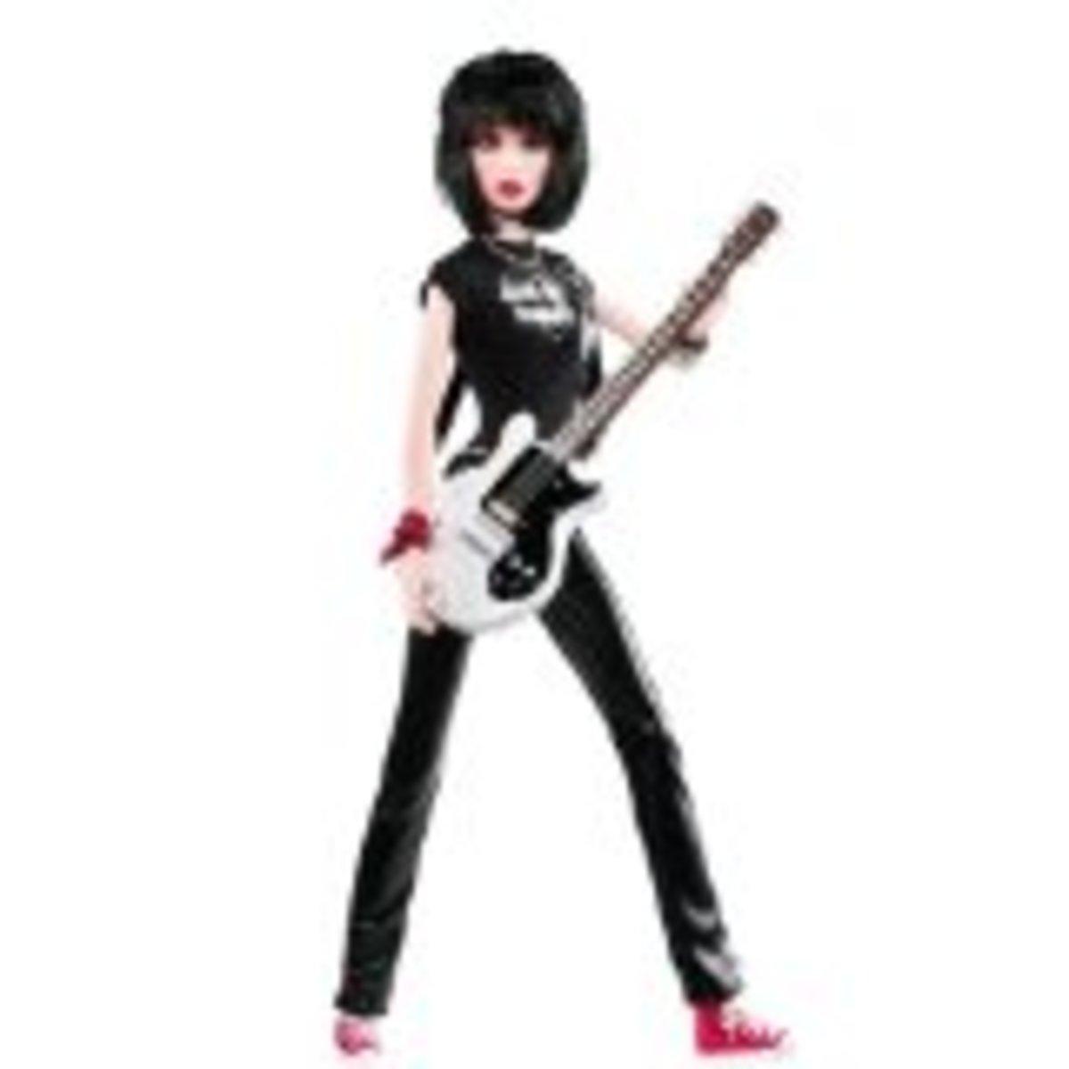 Joan Jett Celebrity Barbie Doll
