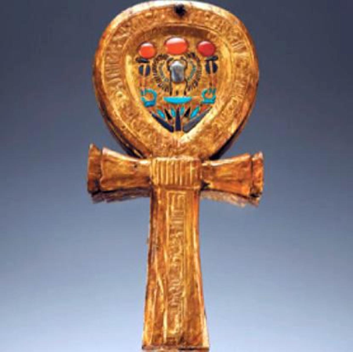 Ankh Mirror from the tomb of Tutankhamen