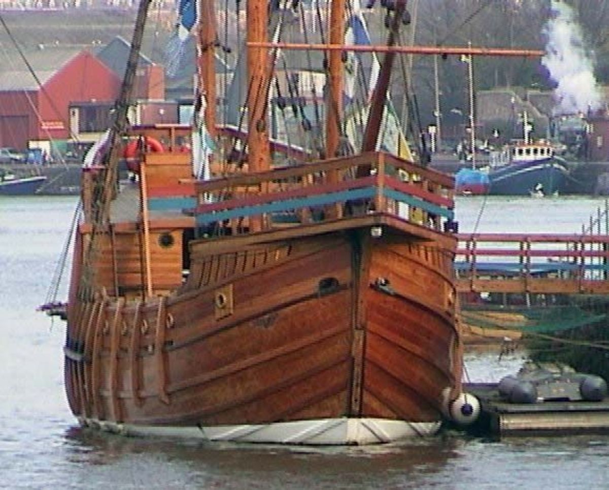 The Matthew sailed by John Cabot from Bristol to discover Newfoundland, Canada in 1497.