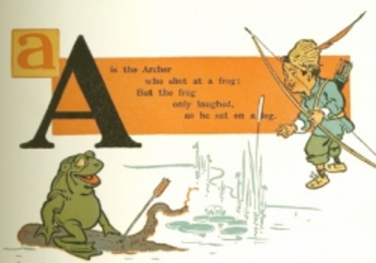 Letter A Vintable Alphabet Printable Book Page