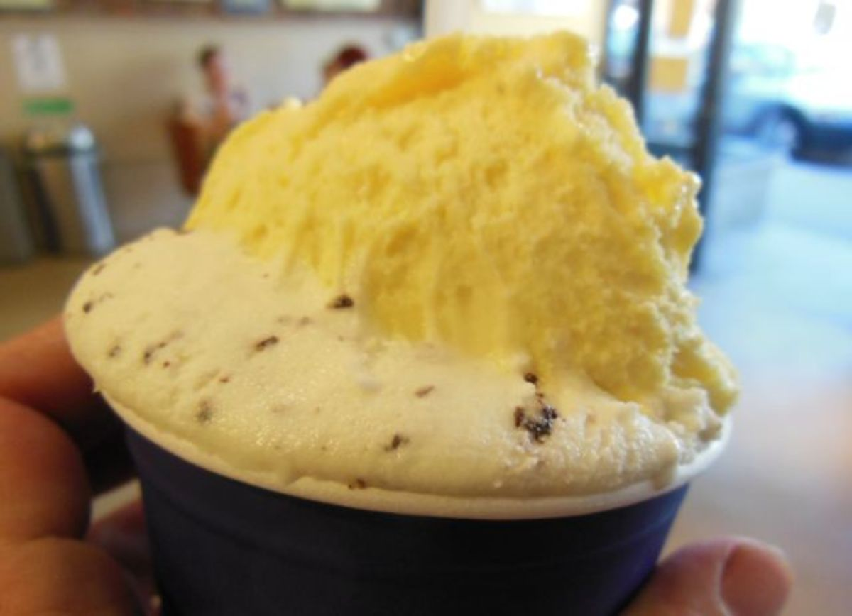 Vanilla might be white with flecks of bean or it could be the deep yellow of egg-rich French vanilla custard.