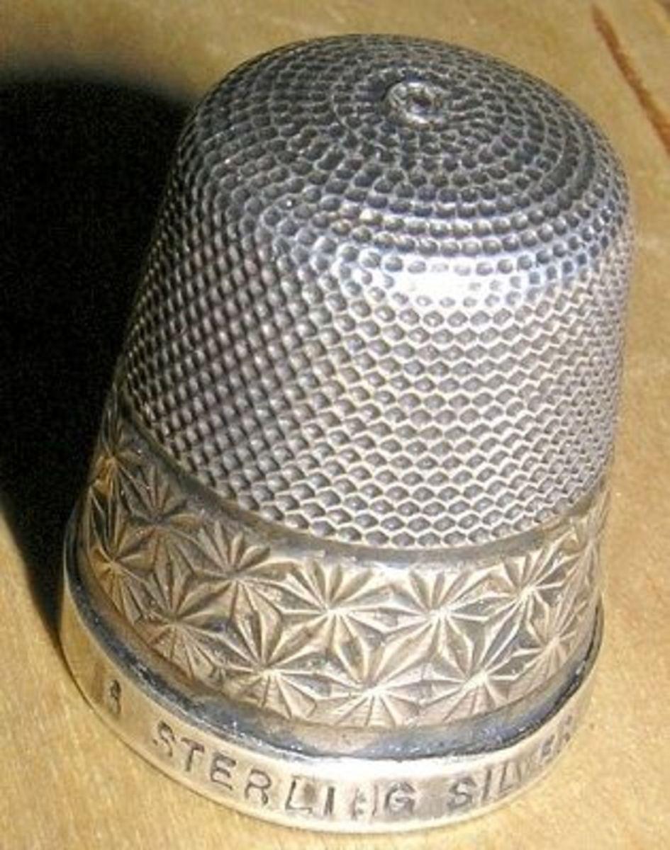 A 19th century silver thimble