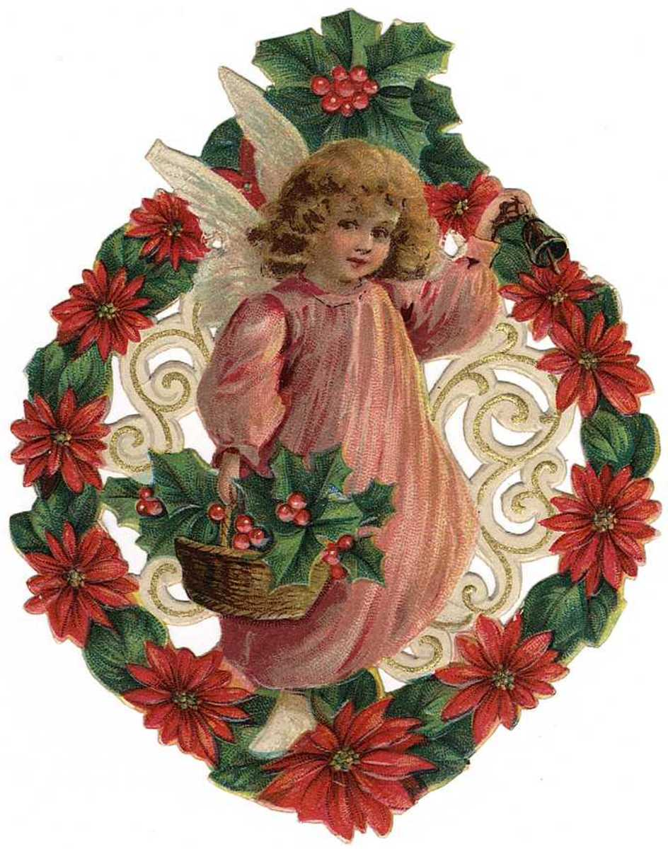 Free Vintage Christmas Angels Clip Art | HubPages
