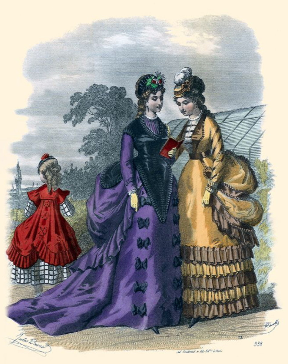 1869: Victorian womens and girls fashions