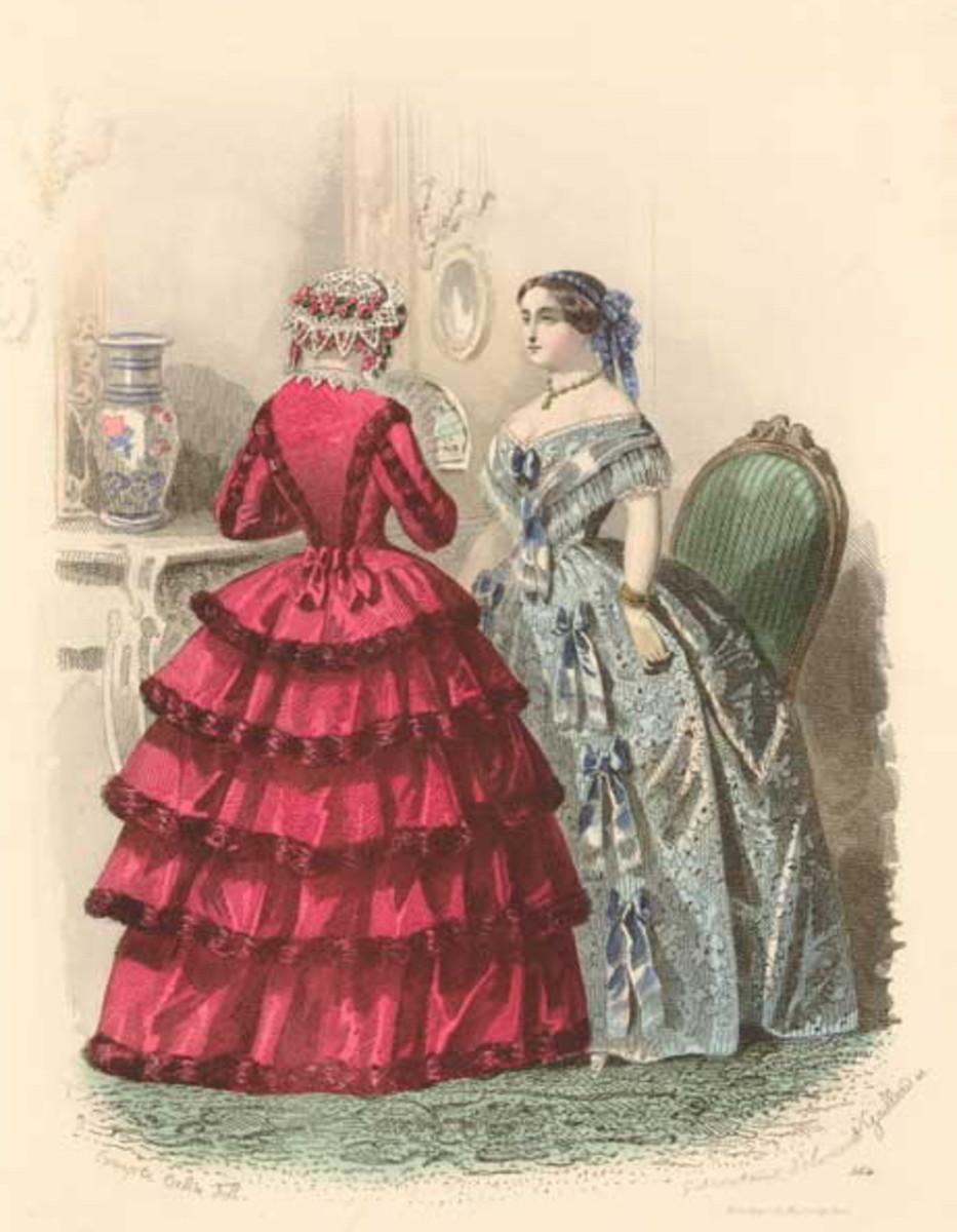 1878: Victorian womens fashions