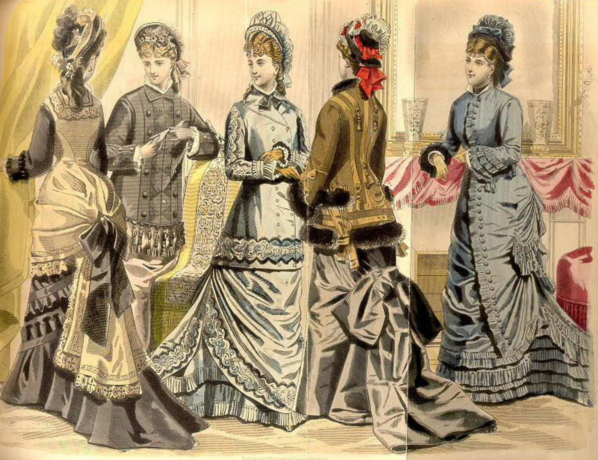 March 1877: Victorian fashion plates for spring
