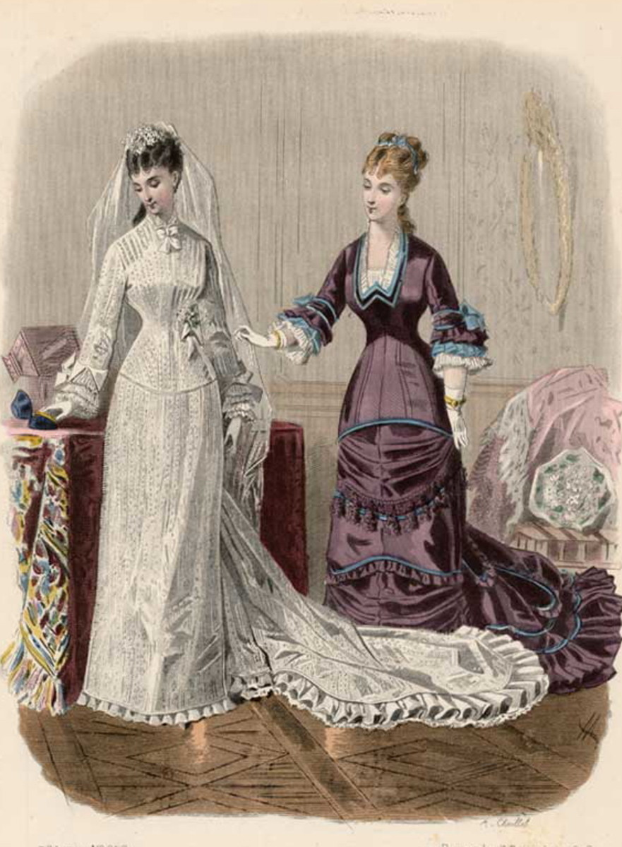 1878: Victorian bridal gown