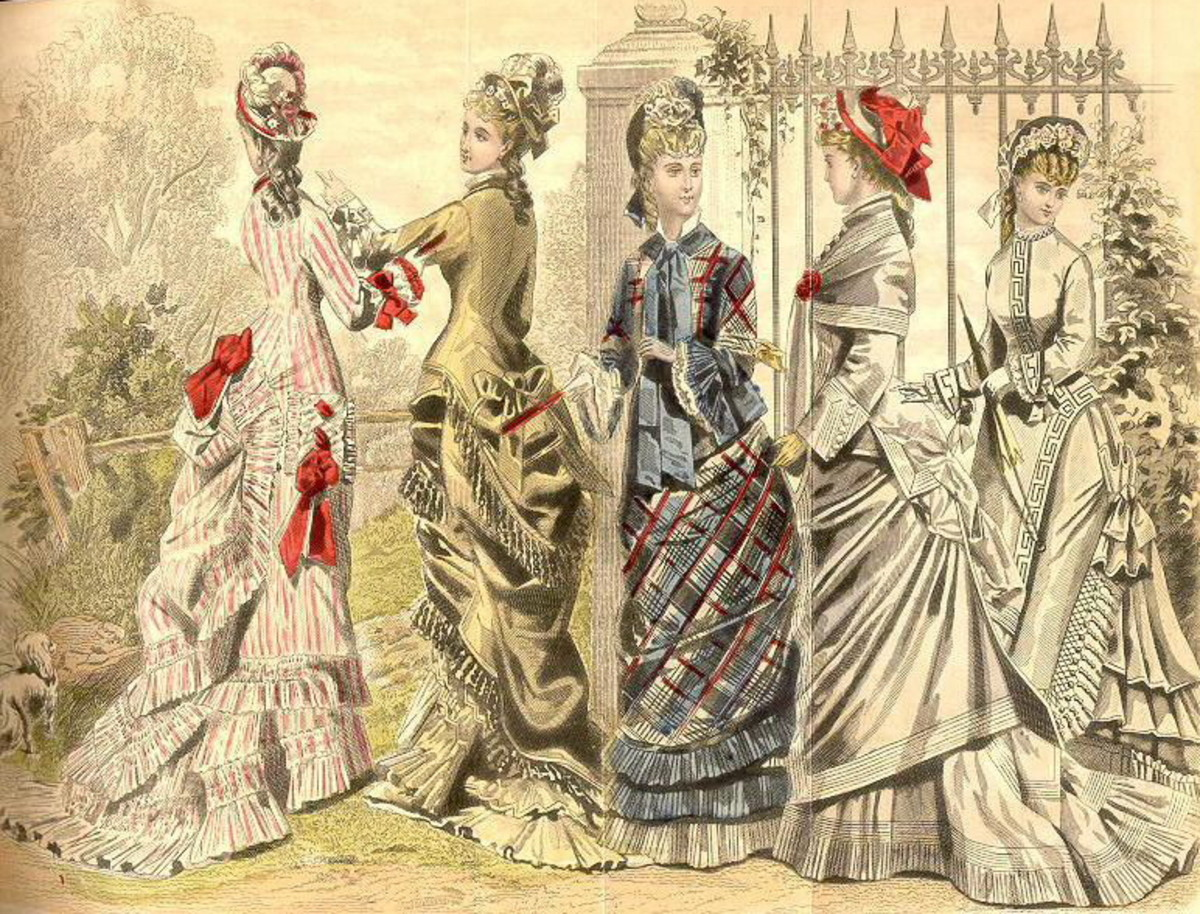 May 1877: Victorian fashion plates for late spring