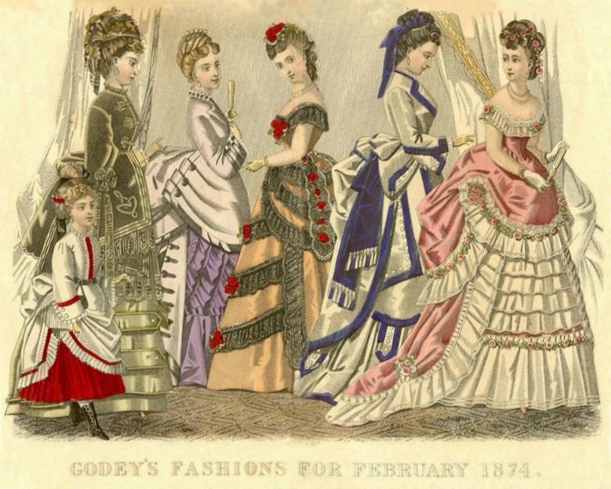 February 1874: Godey's Fashions for Victorian women