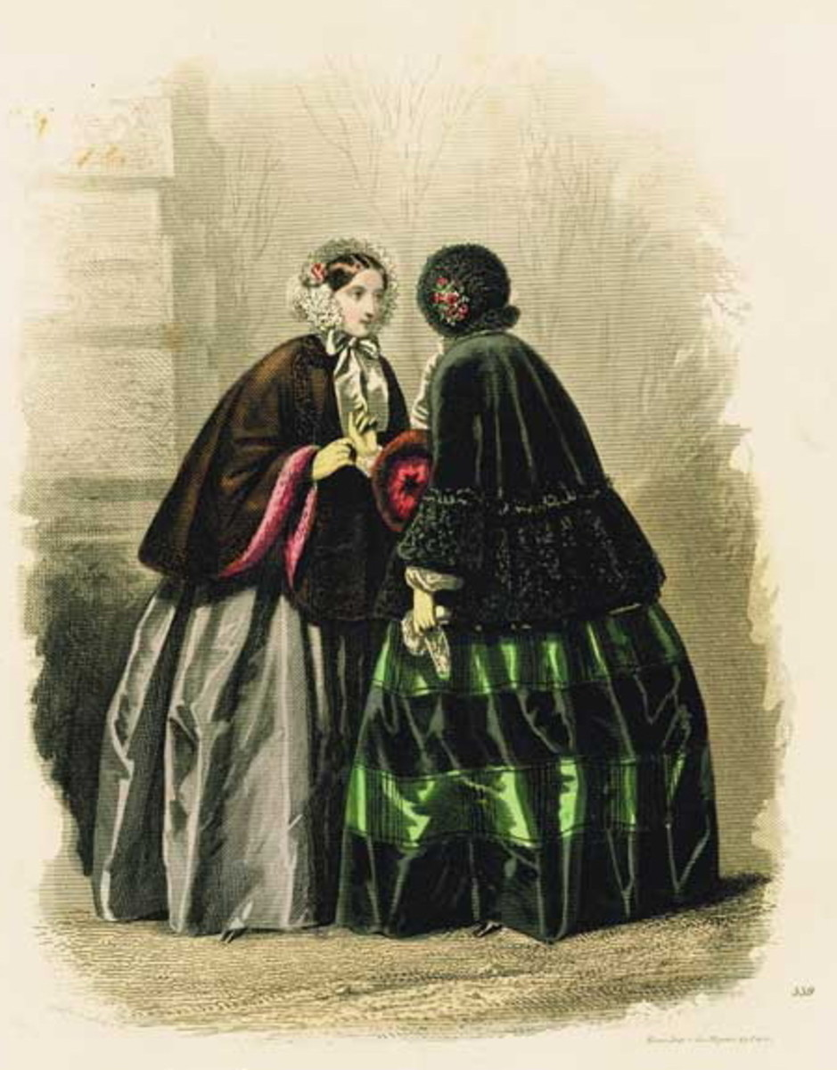 1878: Victorian womens fashions for winter