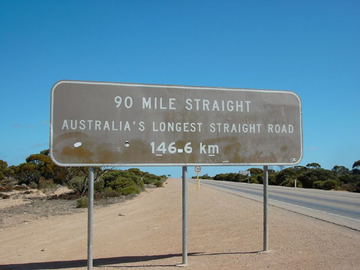 90 Mile Straight, Nullarbor Photo: Aleisso.zz via flickr