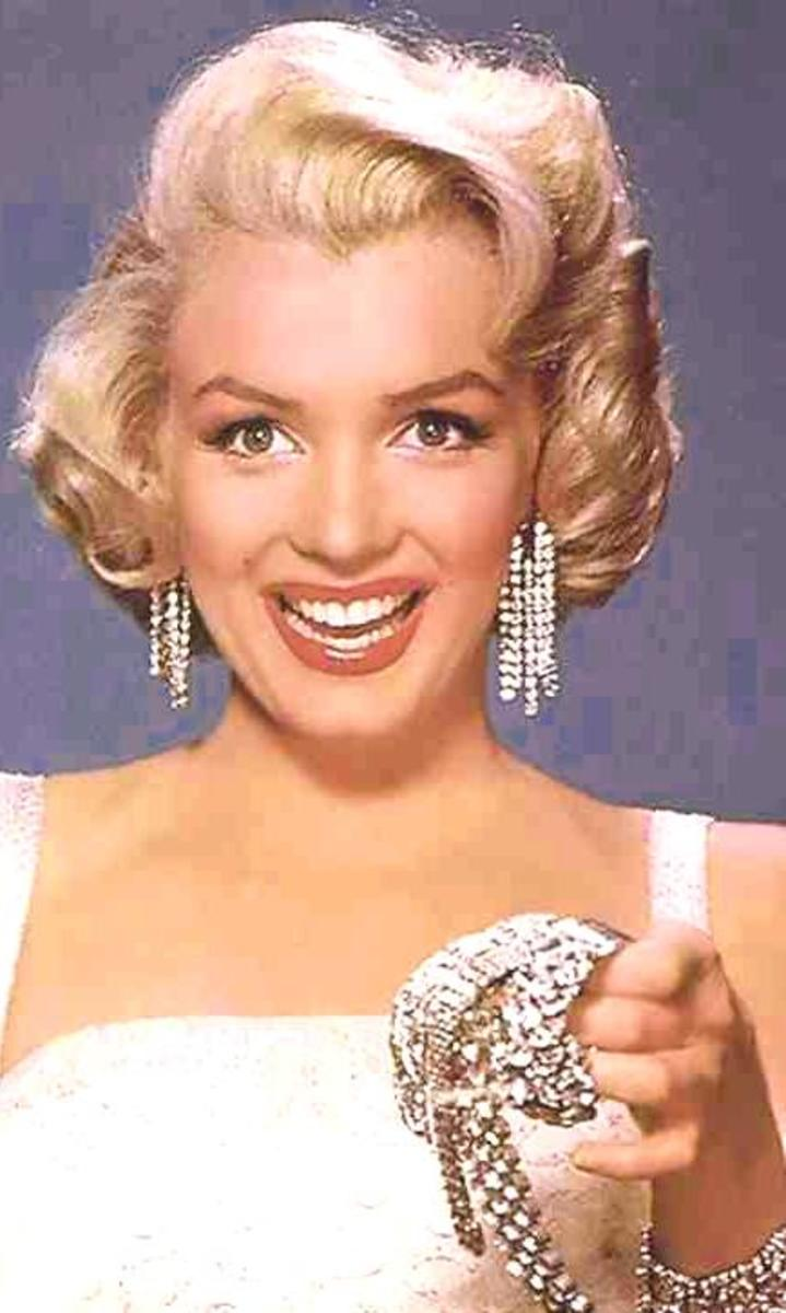 "Marilyn Monroe in publicity photo for ""Diamonds Are A Girl's Best Friend""."