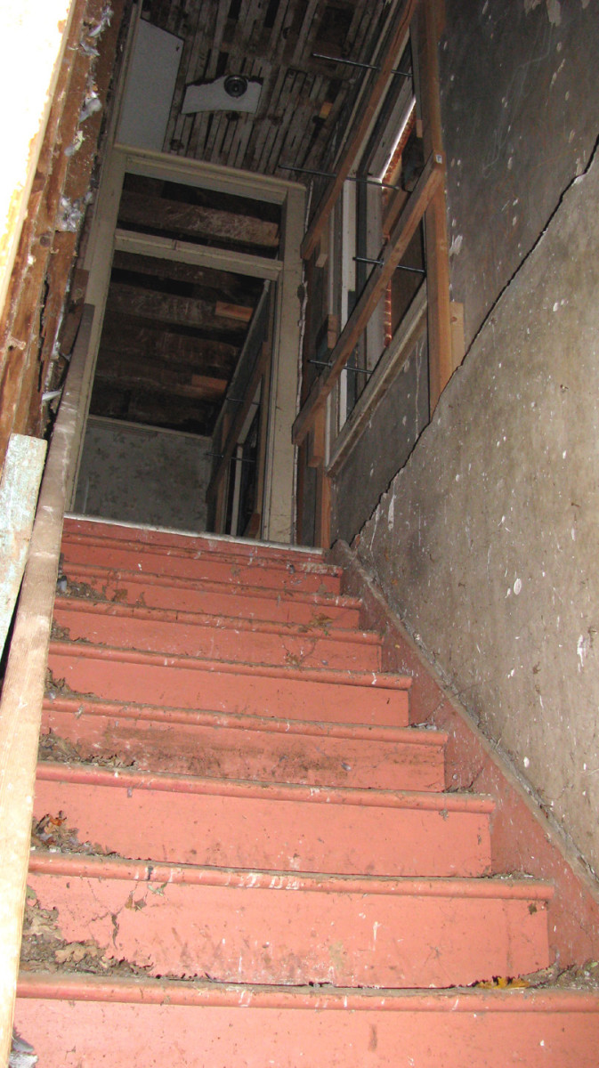 Back staircase to the second floor.