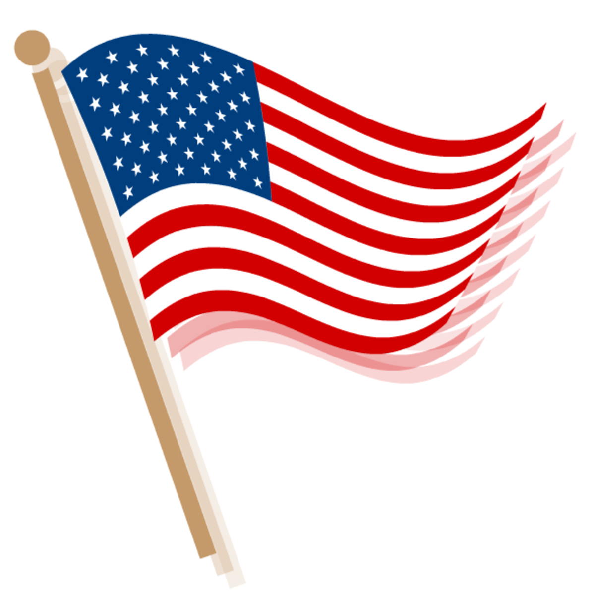 Please scroll down to see all the free patriotic American flag clip art
