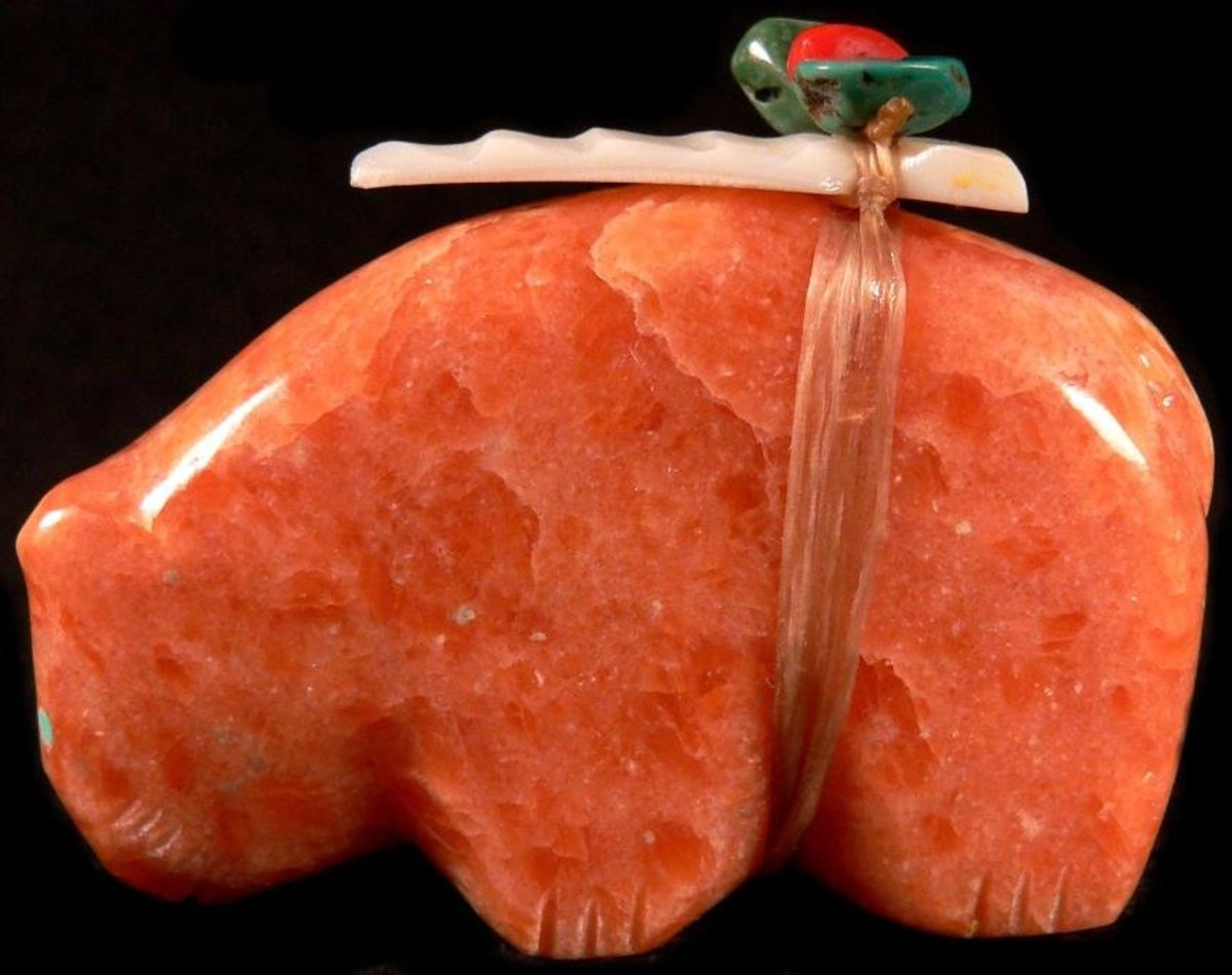 Lena Boone orange calcite bear