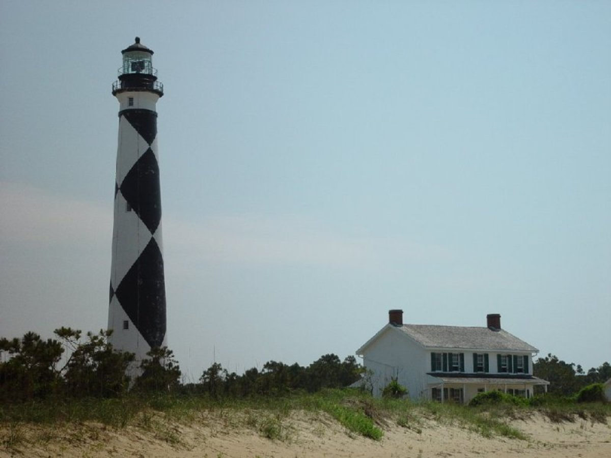 Cape Lookout Light Station - About 8 miles by boat from Beaufort