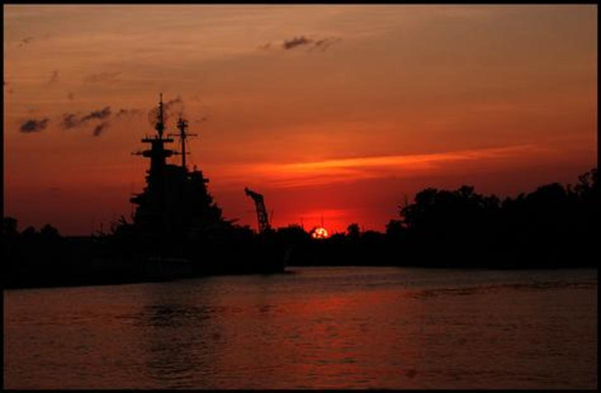 Sundown At The USS North Carolina