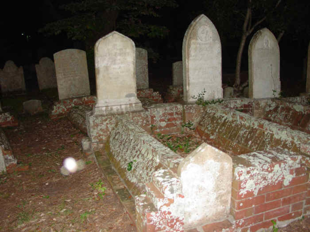 Inside the old Burying Ground where many ghosts still roam around and try to figure out what is going on.