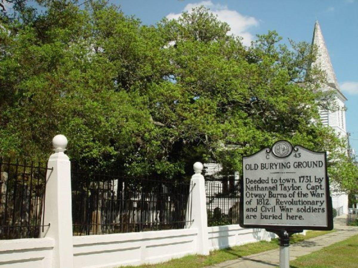 The Old Burying Ground As Seen From Ann Street In Beaufort North Carolina.