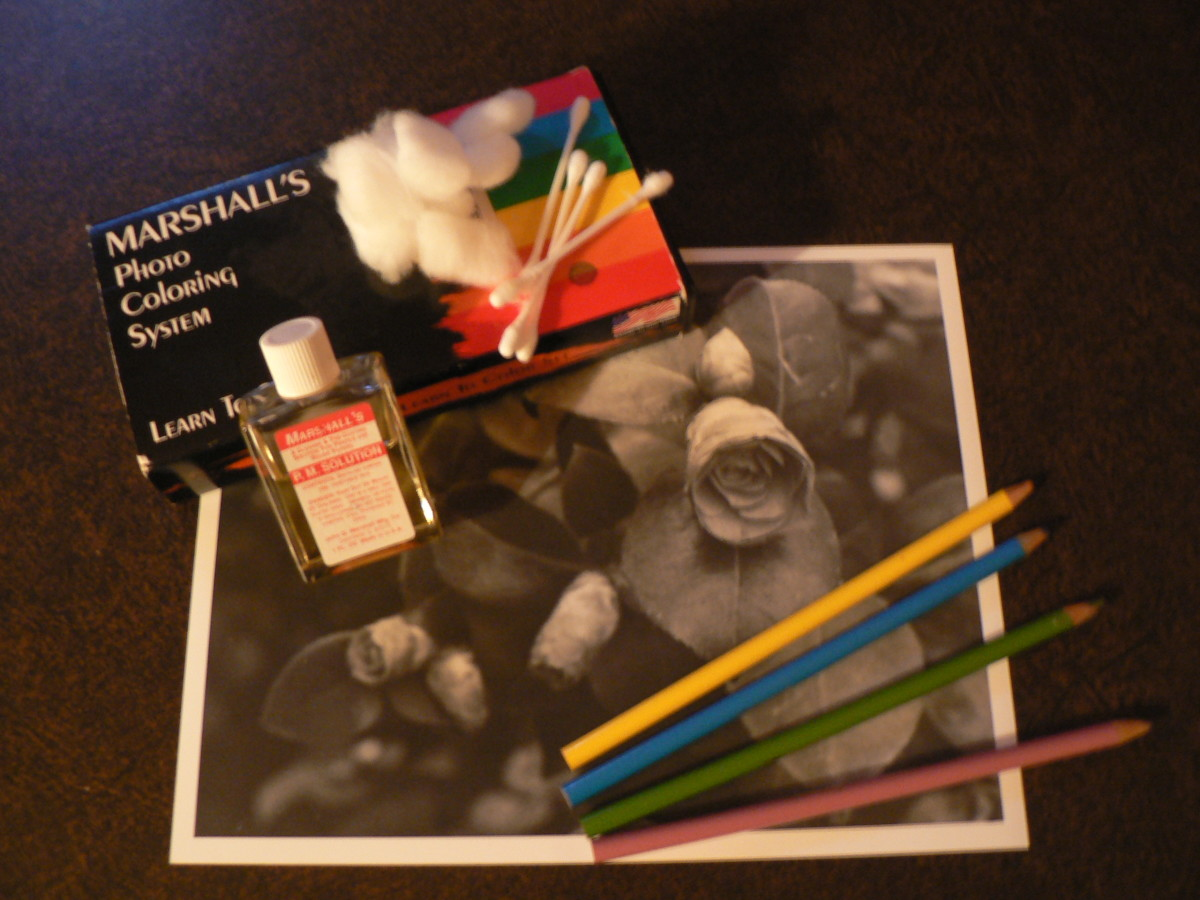 Oil paints and colored pencils from Marshalls