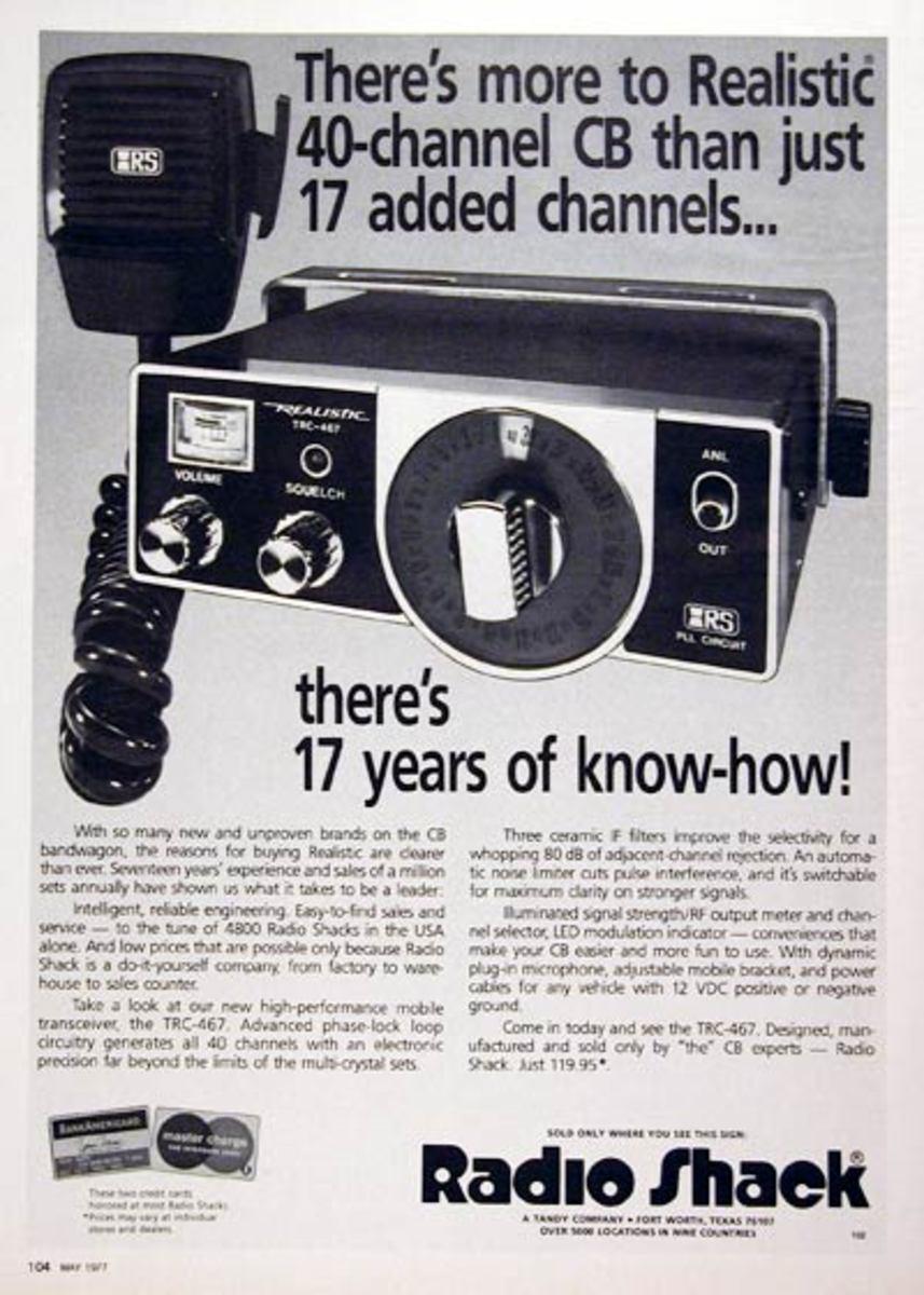 Old RadioShack CB Radio Ad