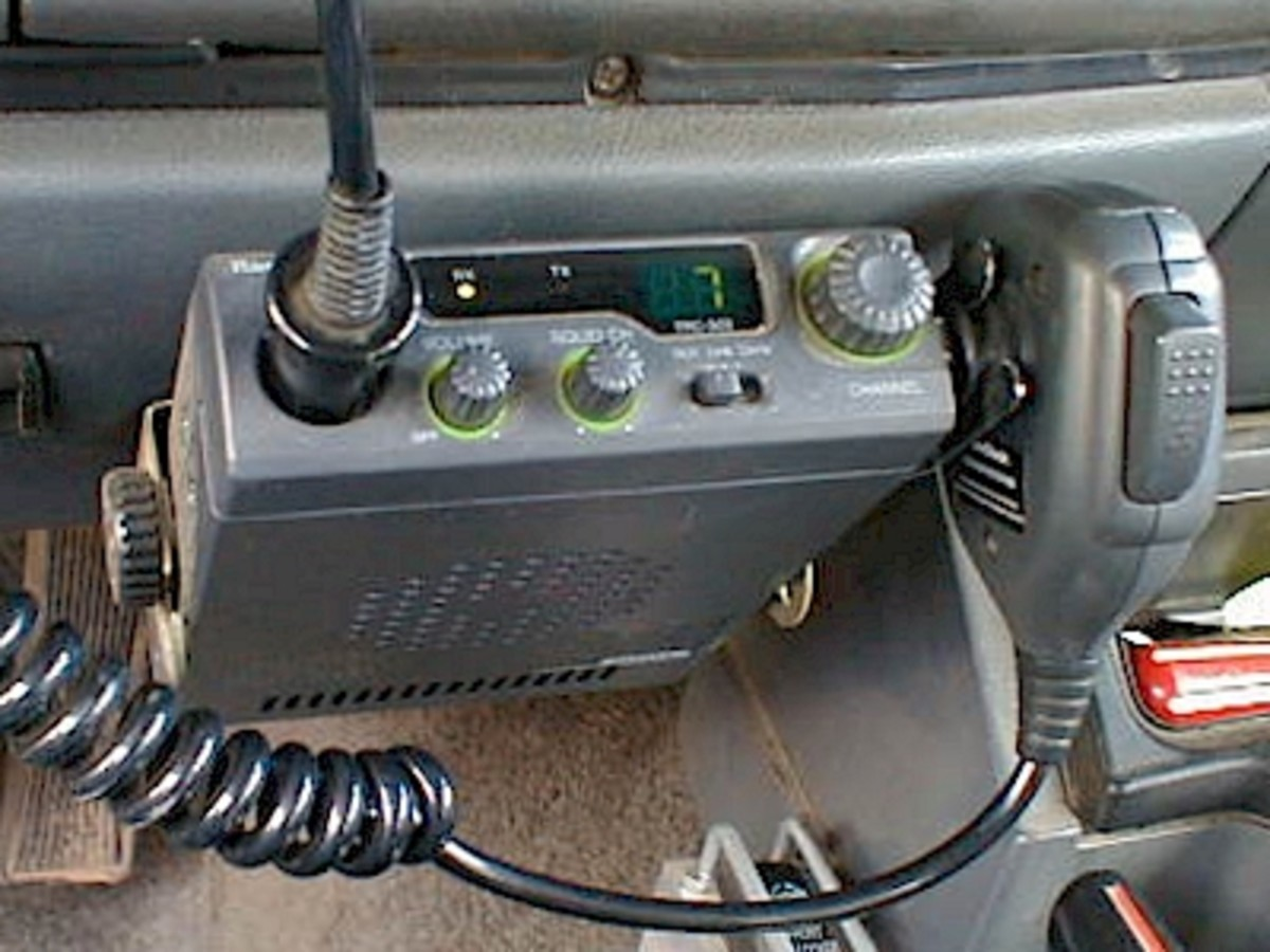 CB Radio in a car