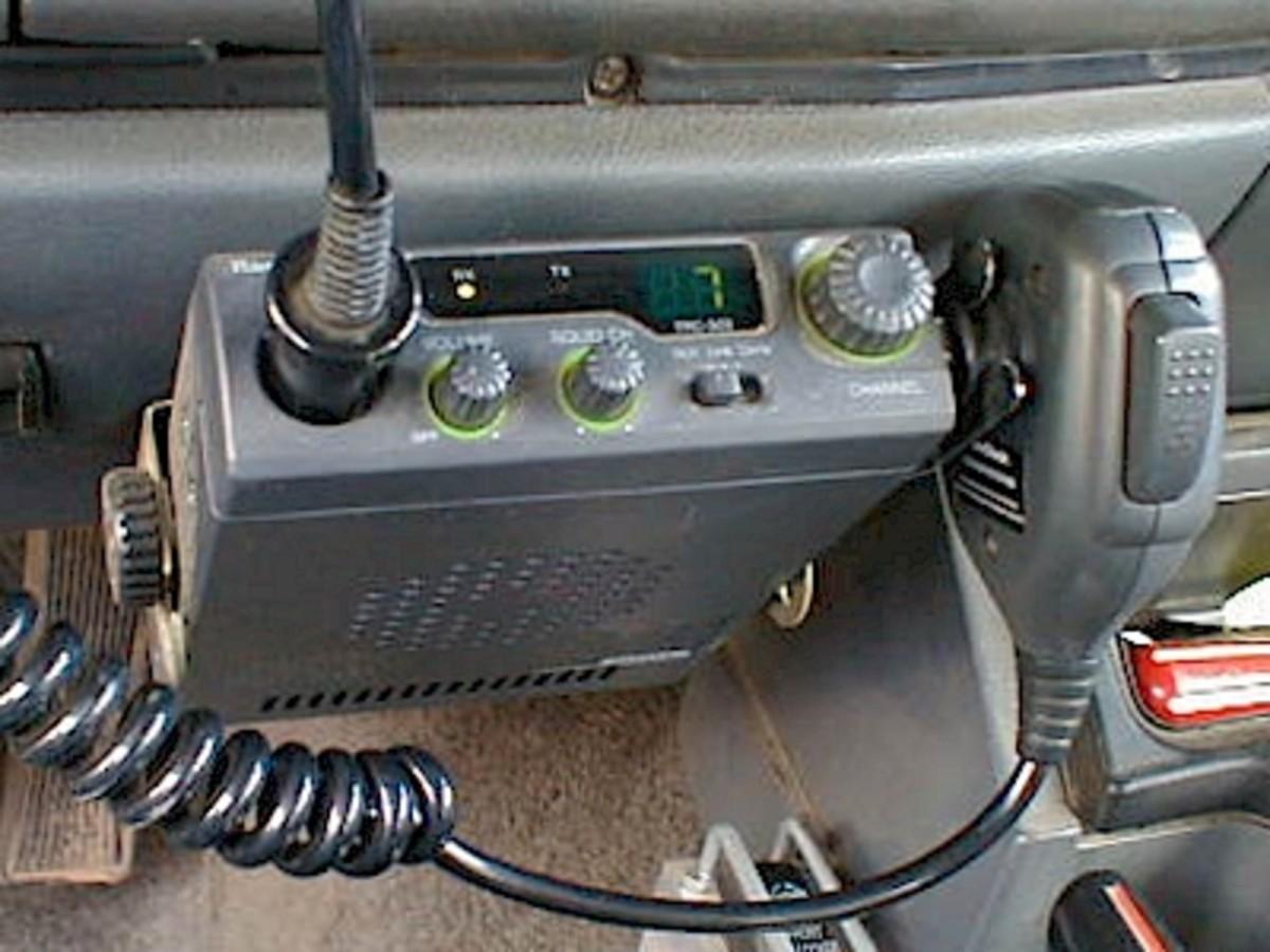 CB Radio in a car