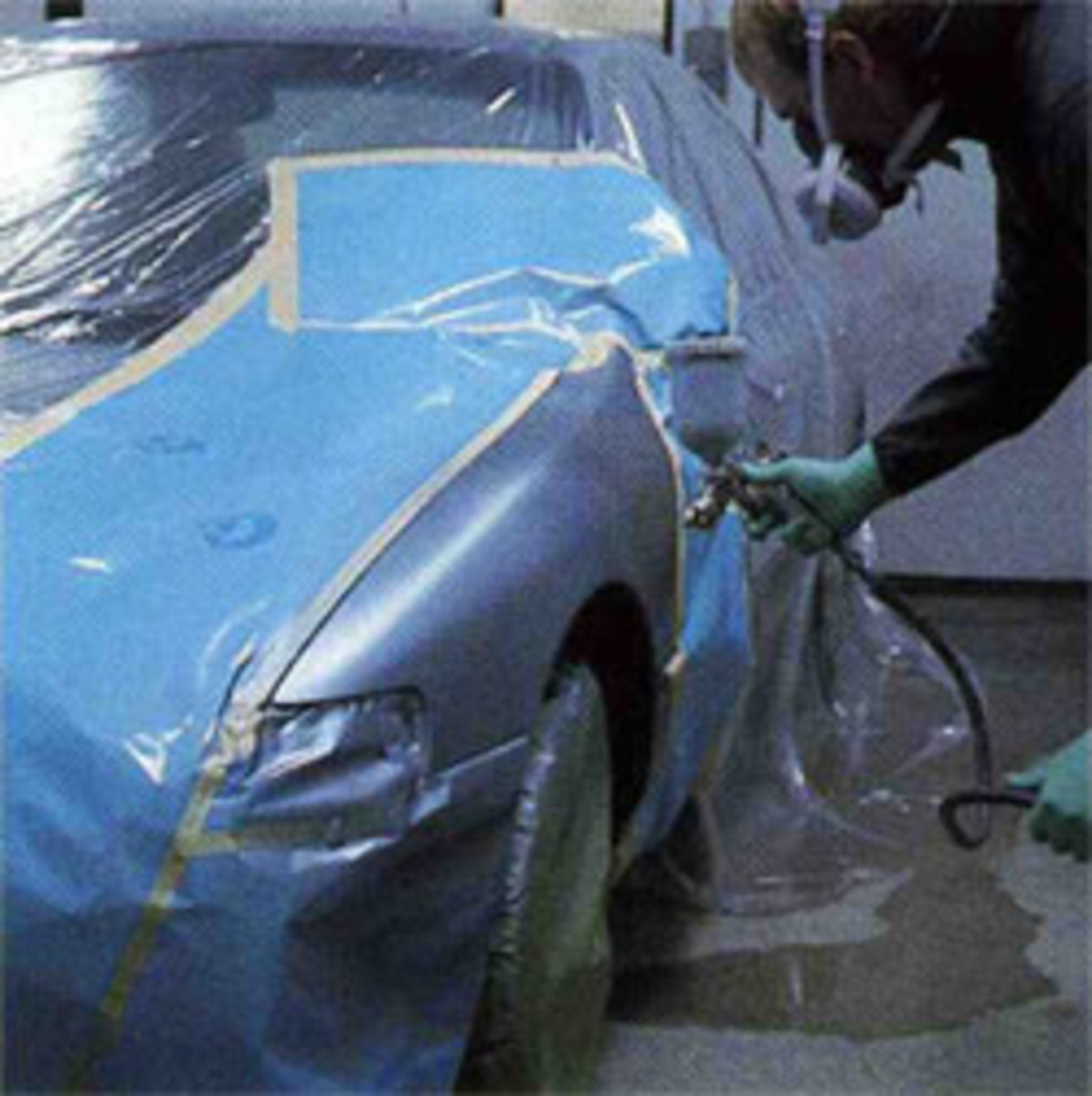 Electrostatic charged paint is applied to cars for a quality finish