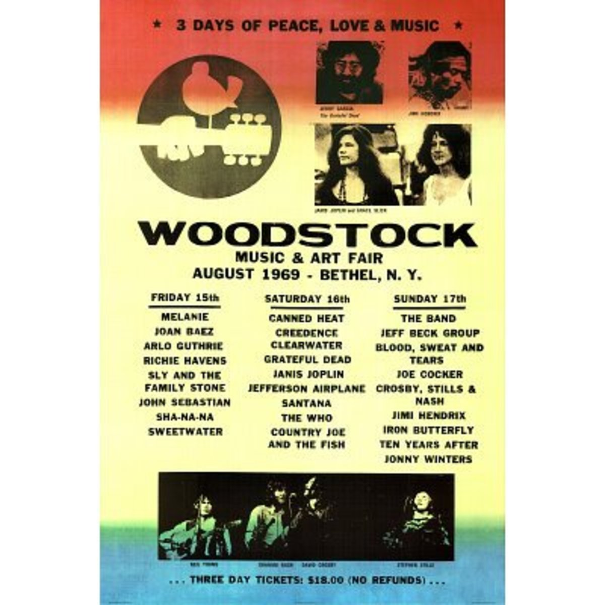 1969 Woodstock poster