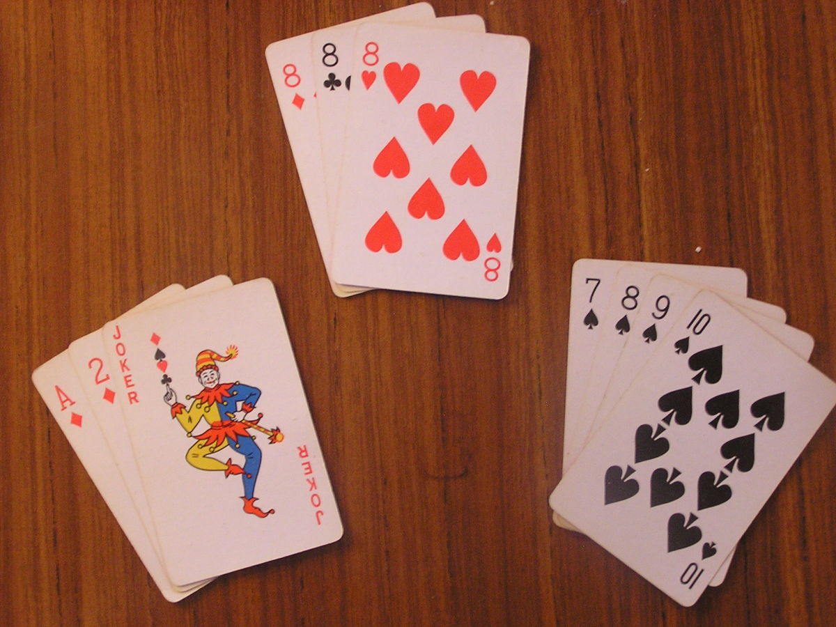 A winning hand in Gin Rummy.