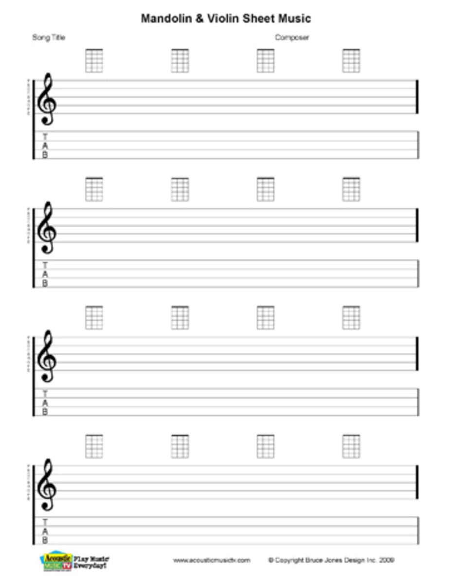 Free PDF Guitar, Mandolin, and Ukulele Chord and Music Charts