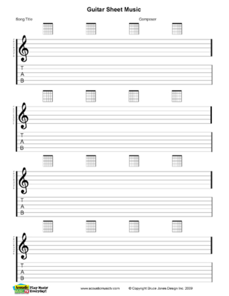 Blank Guitar Sheet Music