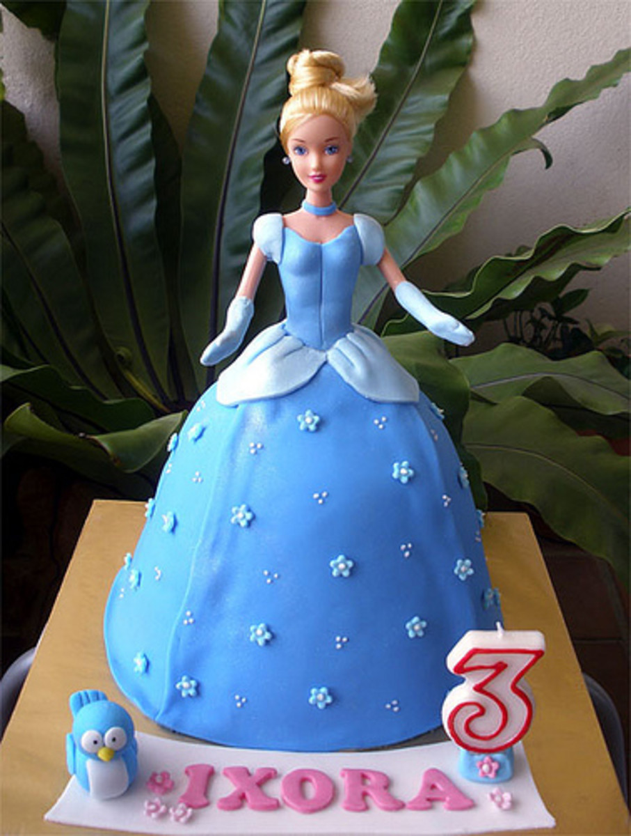 Princess Cinderella Doll Cake by Special Cakes by Tracey