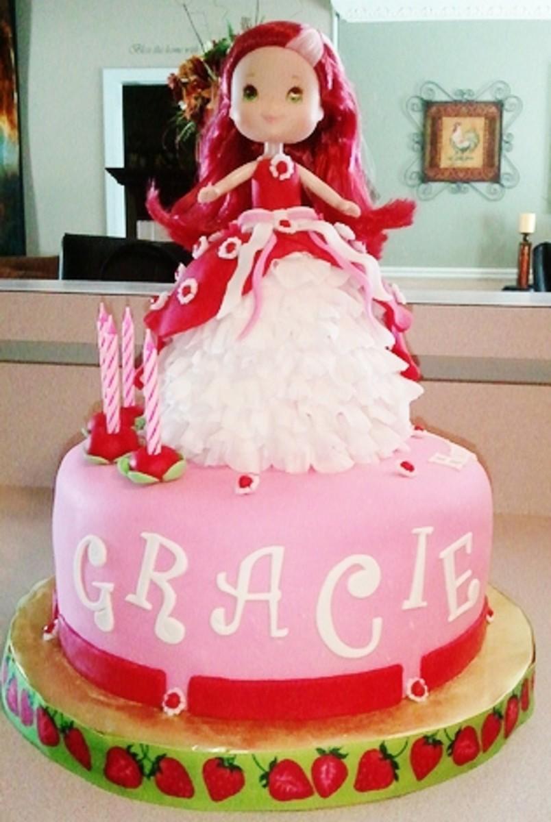 Strawberry Shortcake Doll Cake