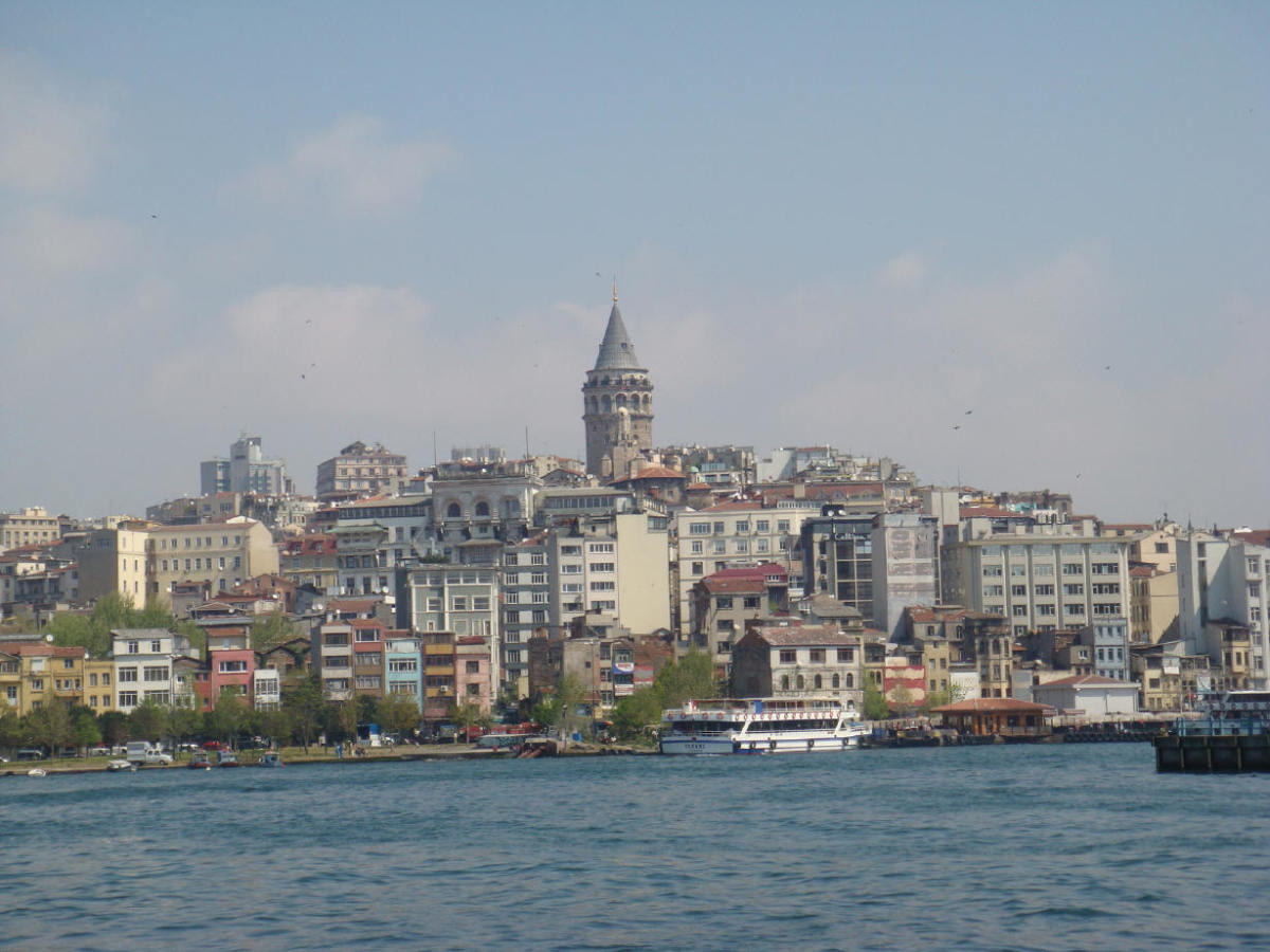 Galata Tower, seen from the Golden Horn. No, I couldn't watch a sunset from its top during this visit, the weather didn't permit.  But I did once upon a time.... it was fantastic, yes.