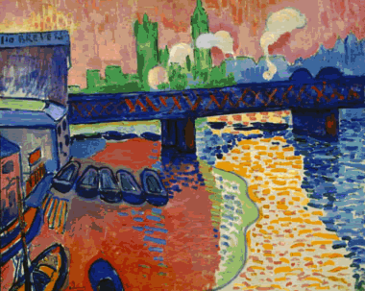 """Charing Cross Bridge"" after Derain"